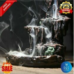Mountains River Waterfall Incense Burner Ceramic Holder Fountain Home Living $35.99