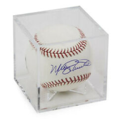 1 SQUARE CLEAR CUBE BASEBALL DISPLAY CASE BALL HOLDER with CRADLE $6.49