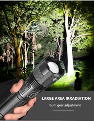 Super Bright 90000LM LED Tactical Flashlight With Rechargeable Battery $12.99