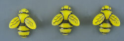 VINTAGE GLASS BUTTON BEE SET OF 3 $15.00
