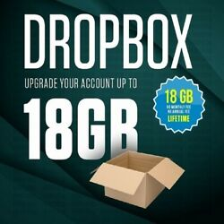 Dropbox 18GB Lifetime Upgrade Permanent Space Friends Referral Service in 3 Day $2.70