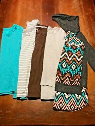 Girls Size 10 12 Shirts Lot Of Five Various Brands Old Navy Long and 3 4 Sleeves $25.00