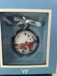 Wedgwood 12 Days of Christmas 1st day ornament rare with red ribbon $55.00