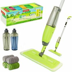 Spray Mop for Hardwood Floor with 2 Water Bottles amp; 4 Washable Wet Dry Pads $37.86