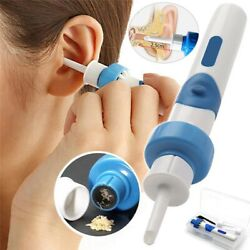 Safety Electric Cordless Vacuum Ear Cleaner Wax Remover Painless Cleaning Tool $6.73