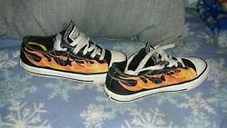 CONVERSE All Star Boys Sneaker Flame Shoes Kids Youth Size 1 $13.00