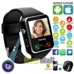 2021 Touch Smart Watch Women Men w Camera For Phone Android IOS Waterproof $22.91