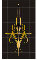 Pinstripe decal vinyl stickers motorcycle car truck tank fender gold intricate $4.95