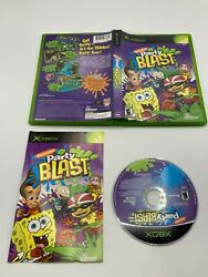 Microsoft Xbox CIB COMPLETE TESTED Nickelodeon Party Blast $7.99