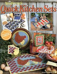 Quick Kitchen Sets Cows Chickens Apples Bunnies plastic canvas pattern book NEW $6.99