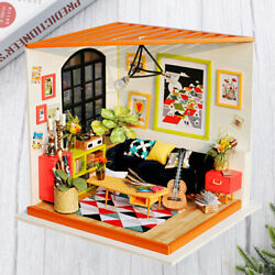 1pc Wooden Miniature Home Model Creative Assembly Diy Living Room $50.87