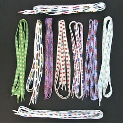 9 pr. Novelty Shoe Laces Shoe Strings Crayons Boats Trains Dinosaurs Vintage $14.99