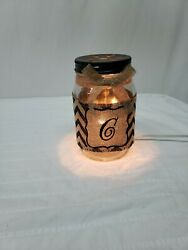 Beautiful Burlap UNIQUE HANDMADE LAMP 6.5 Inches High RARE FAST SHIPPING HOME $5.00