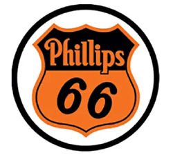 PHILLIPS 66 GAS AND OIL ROUND TIN SIGN RUSTIC METAL GAS STATION WALL ART $17.20