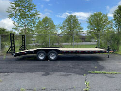 2021 Down To Earth Half Deckover Hybrid 8.5x24 Drive Over Open Equipment Trailer $8995.00