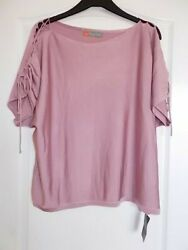 GHARANI STROK LOVELY TIE SHOULDERS BLOUSE PARTY TUNIC TOP SIZE XL 18 GBP 7.99