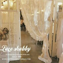 French Rococo Vintage Garland Embroidered Curtains White Sheer Curtain Window $47.52