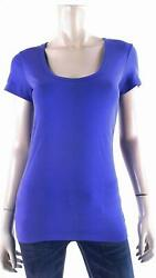 Tommy Bahama Womens size S Cap Sleeve Scoop Neck Basic T Shirt Tee Bold Blue Top $6.99