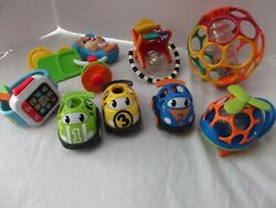 lot 8 toddler baby toys Rhino Oball 0 Ball car helicopter Fisher Price Key Watch $17.99
