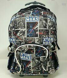 Pottery Barn Kids Star Wars Rolling Backpack No Monogram Removed Used $54.99