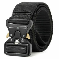 MEN Casual Military Tactical Army Adjustable Quick Release Belts NEW $12.88