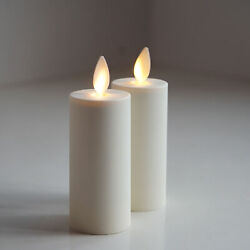 2pc Luminara Flameless Ivory Votive Candle Lights w remote Moving Wick Timer 3quot; $23.99