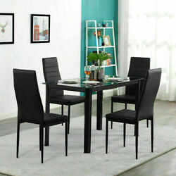 4Piece PU Leather Chair or Dinner Table Kitchen Dining Room Breakfast Furniture $147.24