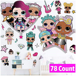 LOL Girls Wall Decals Art Stickers Decor LOL Girl Wall Decorations for Girls $30.14