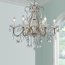 Antique Silver Vintage Candle Chandelier Crystal Lighting Fixture Lamp for $200.54