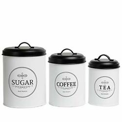 Large Kitchen Canisters Set of 3 Farmhouse Canister Sets for Kitchen $39.23