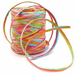 80 M 262 Feet Paper Ribbon6 Colors Raffia Paper String Packing Twine for Fest... $17.57