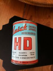 1940#x27;s era BUICK HD MOTOR OIL Old Graphic Tin Oil Can $99.99