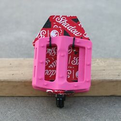 SHADOW CONSPIRACY BMX SURFACE BICYCLE PEDALS 9 16quot; PINK $19.85