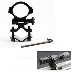1quot; Scope Ring Picatinny Weaver Rail Laser Flashlight Mount with Barrel Adapter $7.99