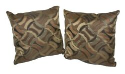 La Z Boy Spalding Leather Accent Toss Throw Decorative Pillow RV Camper Couch $39.95