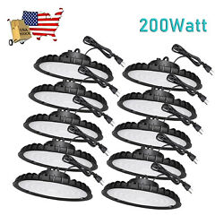 10Pack 200W UFO Led High Bay Light Factory Warehouse Commercial Light Fixtures