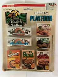 1985 NASTA Grocery Playfood Health Valley *Sealed Mint on Card Play Kitchen Food $14.95