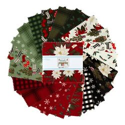 quot;Farmhouse Christmasquot; by Echo Park Paper for Riley Blake 5quot; stacker 42 precuts $11.95