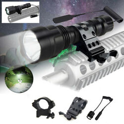 Tactical Hunting C8 Flashlight White LED Light Gun Mount Torch Remote Switch US $16.91