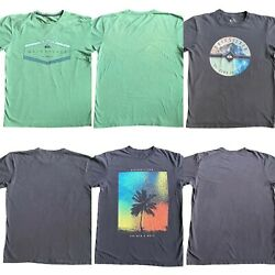 Quiksilver Mens Lot Of 3 Modern Fit Cotton T Shirts Sz. Med $25.99