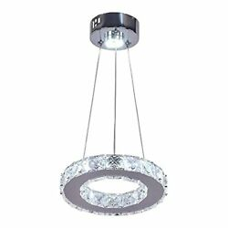 Modern Crystal Chandelier Light Fixture LED Pendant Lighting Round Ring Conte... $37.36