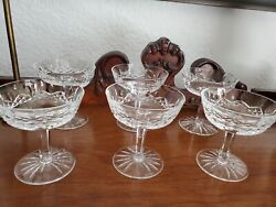 Vintage Waterford Crystal Glass Lismore Champagne Sherbet Dish $145.00