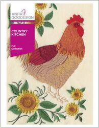 Anita Goodesign Machine Embroidery Pattern Country Kitchen Roosters $40.00