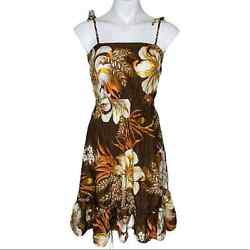 Sears Hawaii Women#x27;s Vintage Floral Tie Strap Sundress Size Small $40.00