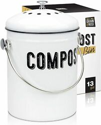 Stylish Farmhouse Kitchen Compost Bin 100% Rust Proof w Non Smell Filters $34.90