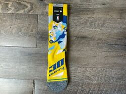 Stance Stephen Curry Profiler Crew Socks Size Large 9 13 Golden State Warriors $14.99