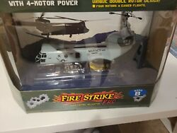 revell fire strike pro radio control helicopter with 4 motor power new band b $299.99