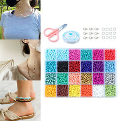14523 Pack Lots Mini Beads Glass Beads Colorful Round Glass Beads Craft Beads $27.56