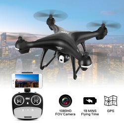1080p Drone w Camera Camera Live Video GPS WiFi FPV RC Quadcopter for Adults $109.99