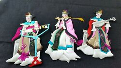 Three Chinese Paper and Silk Dolls Wall Art $28.00